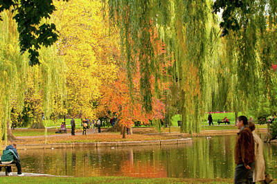 Photograph - Impressions Of Boston Common by Paul Mangold