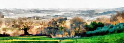 Impressions Of Early Morning In Umbria Art Print