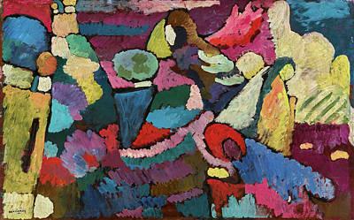 Kandinsky Wall Art - Painting - Improvisation On Mahogany - Improvisation Auf Mahagoni by Wassily Kandinsky