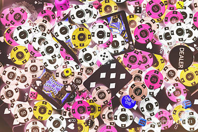 Pop Art Royalty-Free and Rights-Managed Images - In casino colors by Jorgo Photography - Wall Art Gallery