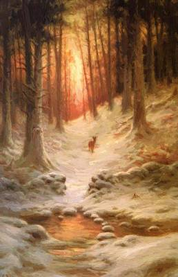 Joseph Farquharson Wall Art - Painting - In Deep Mid Winter by Farquharson Joseph