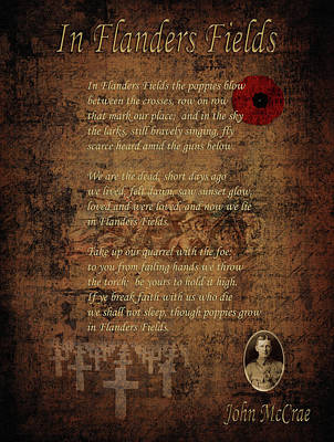 Photograph - In Flanders Fields 2 by Andrew Fare