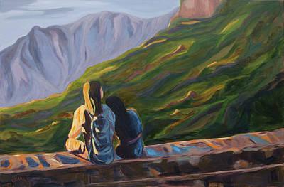 Painting - In His Shadow by Claudia Klann