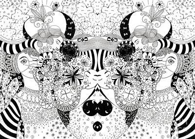 Mixed Media - In Light And Dark - Arrangement 2 by Helena Tiainen
