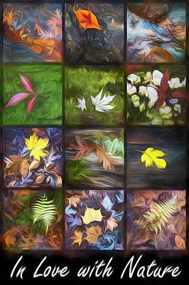 Photograph - In Love With Nature Oil Painting by Debra and Dave Vanderlaan