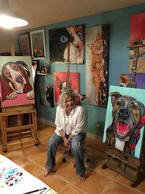 Painting - In My Studio by Patti Schermerhorn