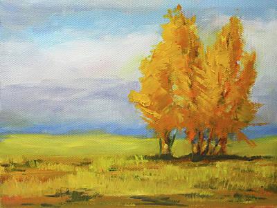 Painting - In October by Nancy Merkle