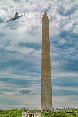 Transportation Royalty-Free and Rights-Managed Images - In Plane Sight Washington DC by Betsy Knapp