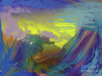 Digital Art - In The Beginning by Jacqueline Shuler