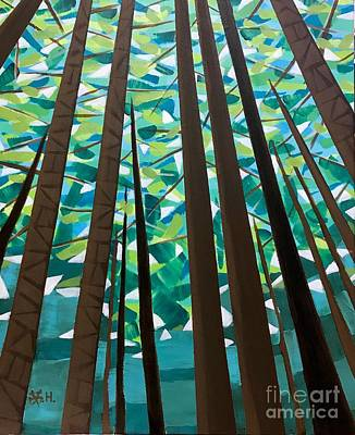 Painting - In The Redwoods by Wonju Hulse