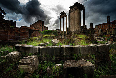 Photograph - In The Roman Forum by Chris Lord