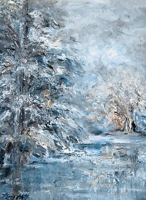 Painting - In The Snowy Silence by Mary Wolf