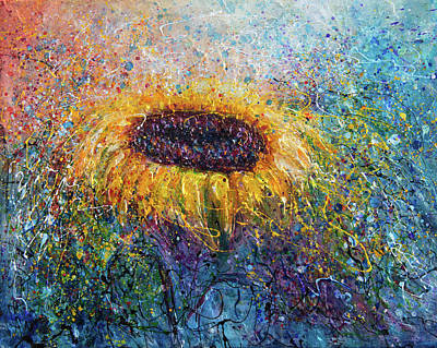 In The Swirls Of Sunshine  By Olena Art Original