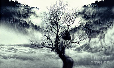 In Winter The Trees Are Naked Art Print