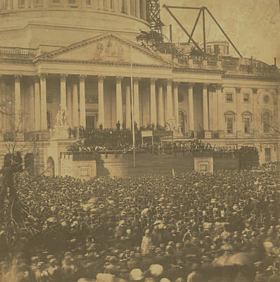Photograph - Inauguration Of Abraham Lincoln, March 4, 1861 by Unknown