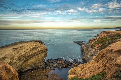 Photograph - Inbetween At Sunset Cliffs by Joseph S Giacalone