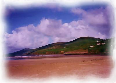 Digital Art - Inch Beach Painting by JLowPhotos