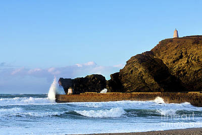 Photograph - Incoming Tide At Portreath by Terri Waters