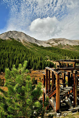 Photograph - Independence Pass Ghost Town by Ray Mathis
