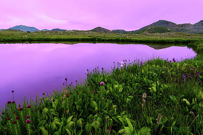 Photograph - Independence Pass Purple Sunset by Photo By Matt Payne Of Durango, Colorado