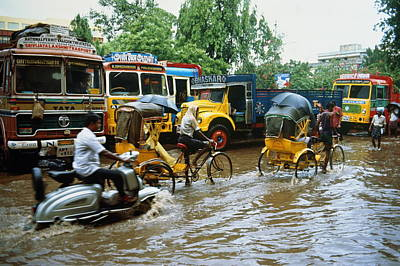 Photograph - India, Tamil Nadu, Madras, Traffic by Martin Puddy