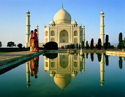 Indian Culture Photograph - India,agra,taj Mahal And Reflection by Suzanne And Nick Geary