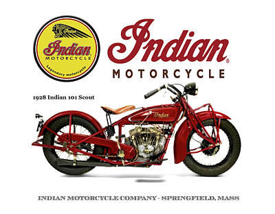 Photograph - Indian 101 Scout - 1928  by Doc Braham