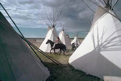 Photograph - Indian Camp In Montana, United States - by Gerard Sioen