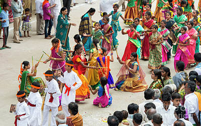 Art Print featuring the photograph Indian Festival Dance by Tim Gainey