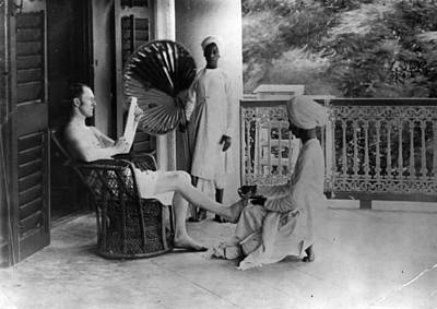 Indian Pedicure Art Print by Hulton Archive