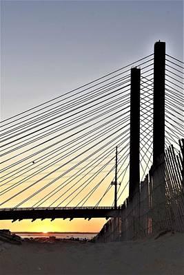 Photograph - Indian River Inlet Bridge Sunset by Kim Bemis