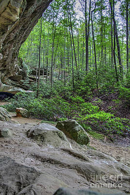 Photograph - Indian Rockhouse Tennessee by Sharon McConnell