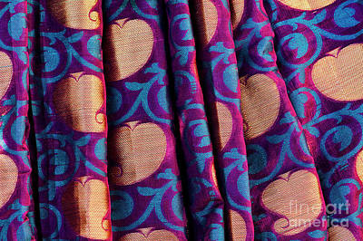 Art Print featuring the photograph Indian Silk Sari Pattern by Tim Gainey