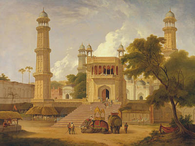 Painting - Indian Temple, Said To Be The Mosque Of Abo-ul-nabi, Muttra by Thomas Daniell