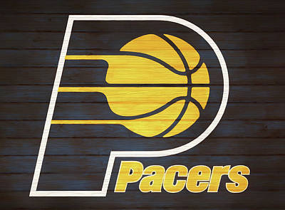 Mixed Media - Indiana Pacers Barn Door by Dan Sproul