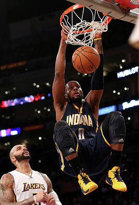 Photograph - Indiana Pacers V Los Angeles Lakers by Stephen Dunn
