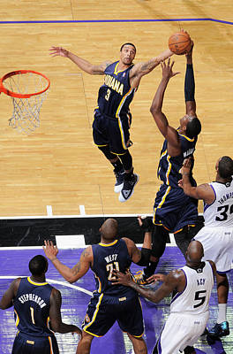 Photograph - Indiana Pacers V Sacramento Kings by Rocky Widner