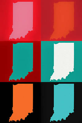 Mixed Media - Indiana Pop Art by Dan Sproul