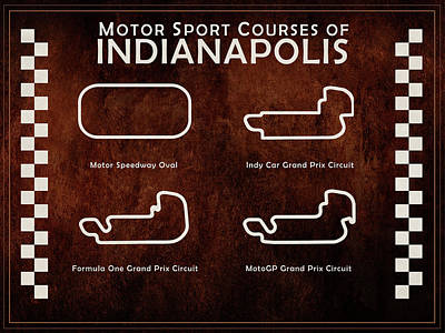 Indianapolis Wall Art - Photograph - Indianapolis Courses by Mark Rogan