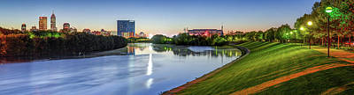 Photograph - Indianapolis Skyline Panorama Over The White River by Gregory Ballos