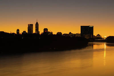 Photograph - Indianapolis Skyline Silhouettes At Sunrise by Gregory Ballos