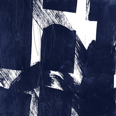 Mixed Media - Indigo Abstract- Art By Linda Woods by Linda Woods