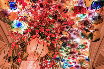 Photograph - Indoors Of Bellagion Hotel In Las Vegas Decorations by Alex Grichenko