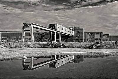 Photograph - Industrial Reflection 2 by Alan Raasch