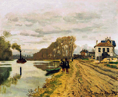 Graduation Hats Royalty Free Images - Infantry Guards Wandering along the River, 1870 Royalty-Free Image by Claude Monet