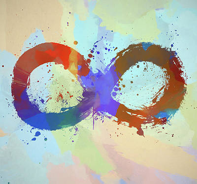 Painting - Infinity Symbol Watercolor by Dan Sproul