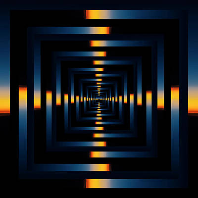Abstract Skyline Rights Managed Images - Infinity Tunnel Skyline Divide Sunset Reflection Royalty-Free Image by Pelo Blanco Photo
