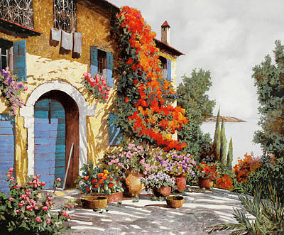 Automotive Paintings Royalty Free Images - Infissi Azzurri Royalty-Free Image by Guido Borelli