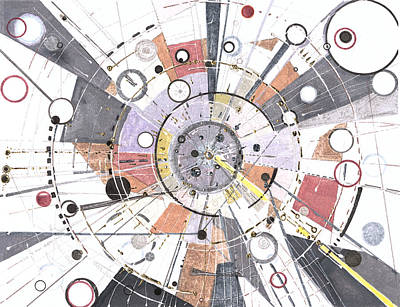 Drawing - Information Superhighway by Regina Valluzzi