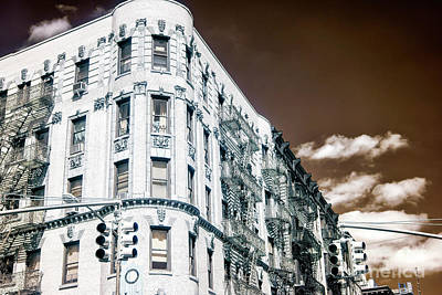 Photograph - Infrared Old Mulberry Street New York City by John Rizzuto